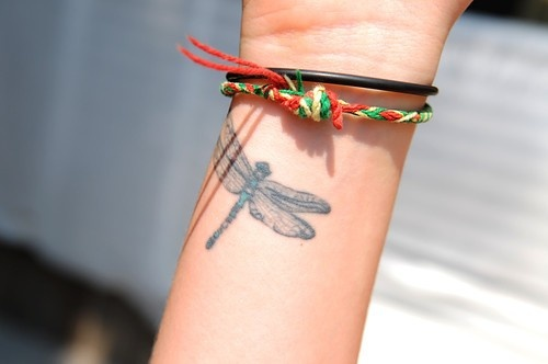 Cute Dragonfly Tattoo Art for Girls