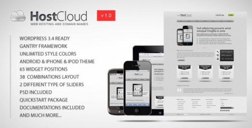 HostCloud - Premium WordPress Theme