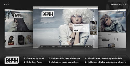Depth - Full-Screen AJAX Portfolio Theme