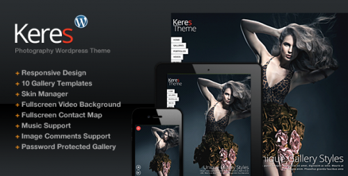 Keres Fullscreen Photography Theme