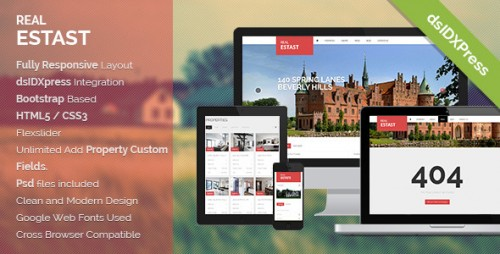 RealEstast Responsive Real Estate WP Theme