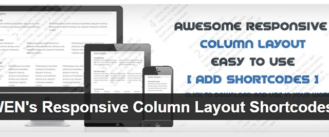 WEN's Responsive Column Layout Shortcodes