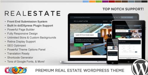 WP Pro Real Estate 6 Responsive WP Theme