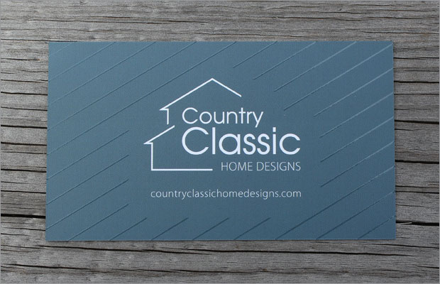 Business Card Design: Country Classic Home Designs