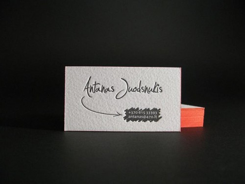 Business Cards with Painted Edge