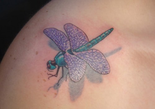Dragonfly Tattoo on Shoulder