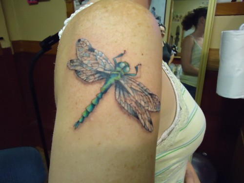 25 Undeniably Dragonfly Tattoos Pictures - WebdesignLayer