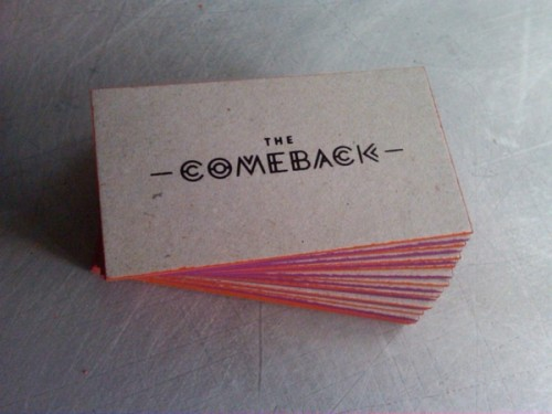 The Comeback Business Cards