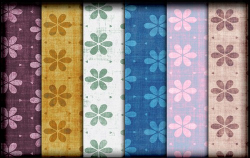 10 Tileable Grungy Floral Patterns