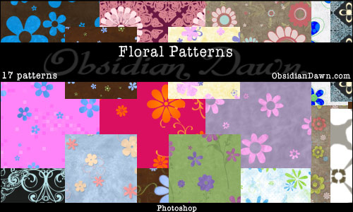 17 Floral Photoshop Patterns
