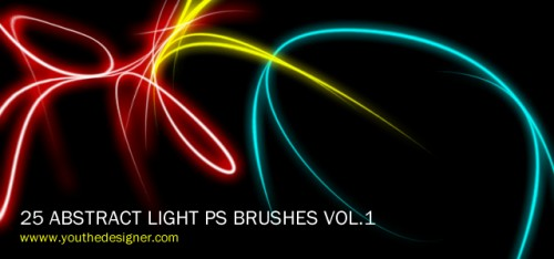 25 Abstract Light Photoshop Brushes