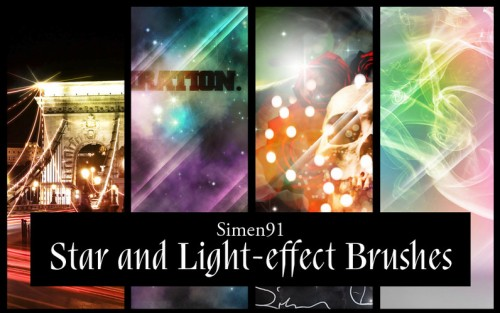 31 Star and Light-effect Brushes