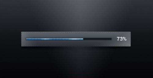 Dark PSD Progress Bar