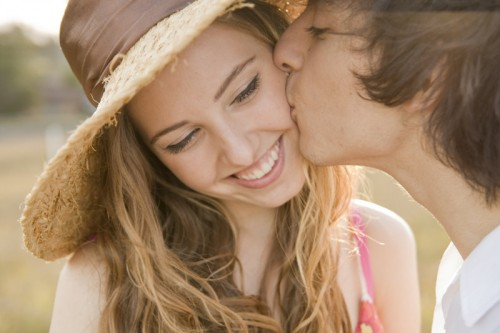 Kiss on The Cheek - Romantic Couples Photography