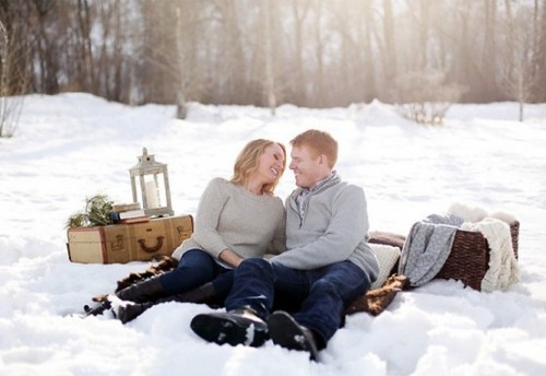 Romantic Winter Engagement Shoot