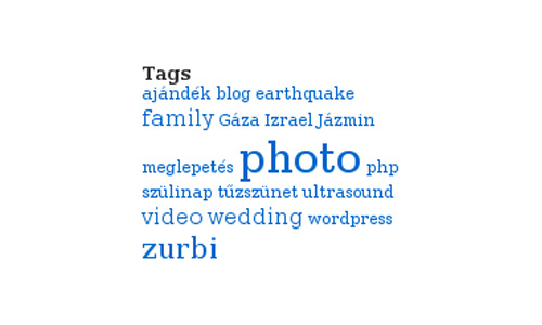 SEO Tag Cloud Widget