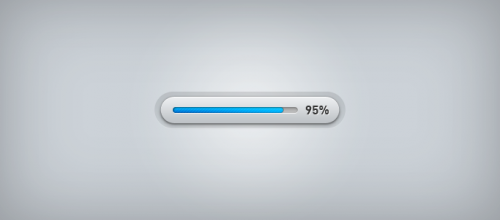 Sleek Progress Bar PSD