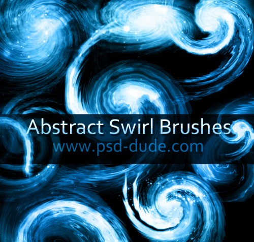 20 Abstract Swirl Brushes