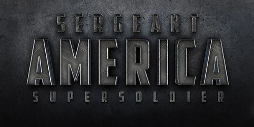 "Cinematic ""Sergeant America"" Text Effect"