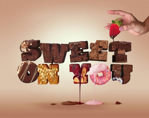 Create a Tasty 3D Typographic Illustration