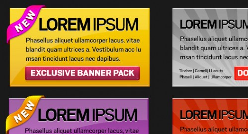 Free PSD Web Banner Pack