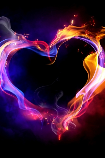 Flammable Heart HD Wallpaper