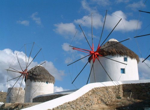 Beautiful Windmills in Mykonos