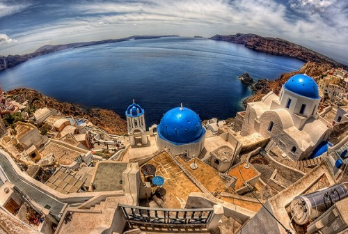 Top View of Oia