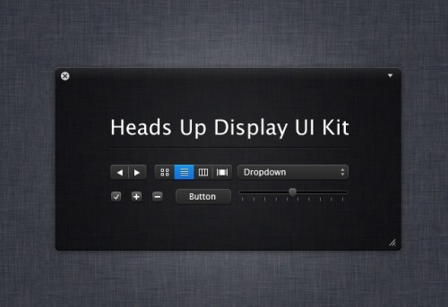 Heads Up Display UI Kit