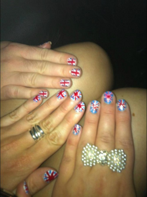 Flag Nail Art Ideas 2013