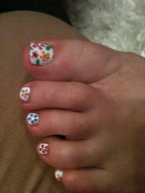 Short Nail Designs on Foot