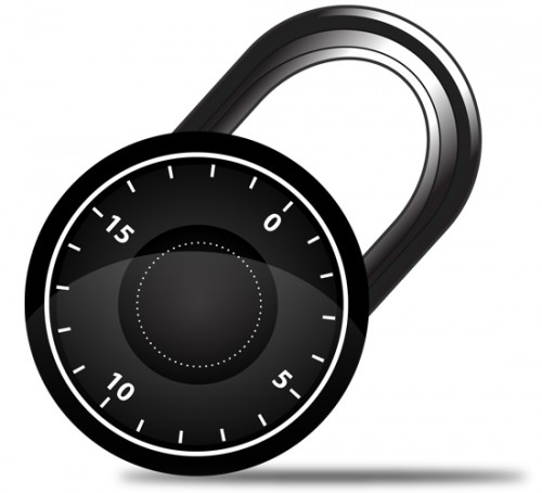 Vector Combination Lock in Illustrator