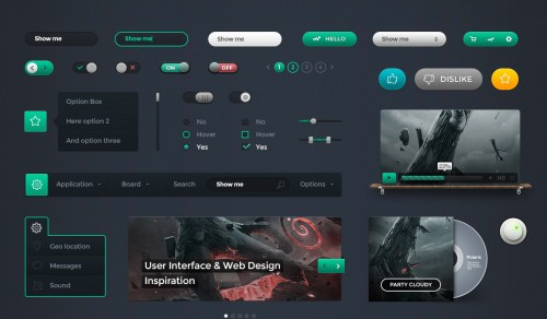 Polaris UI Kit + Linecons Icon Set