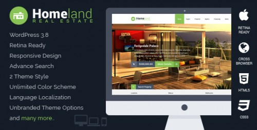 Homeland - Responsive Real Estate WP Theme