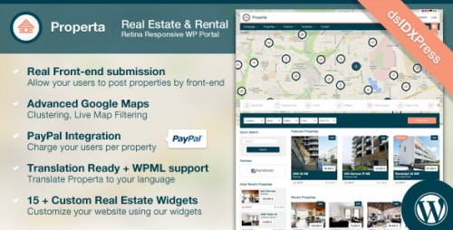 Properta - Real Estate WordPress Theme