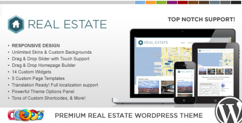 WP Pro Real Estate 3 Responsive WordPress Theme