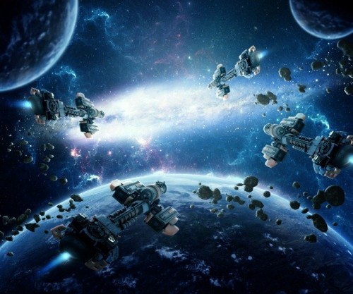 A Space Battle Scene in Photoshop
