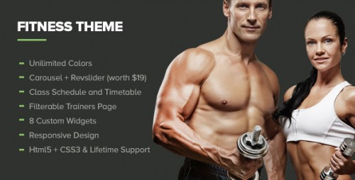 Fitness - Gym WordPress Premium Theme