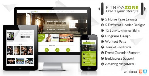 Fitness Zone - Gym, Sports WordPress Theme