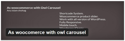 As WooComerce with Owl Carousel