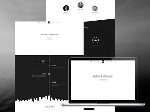 B&W Website Template