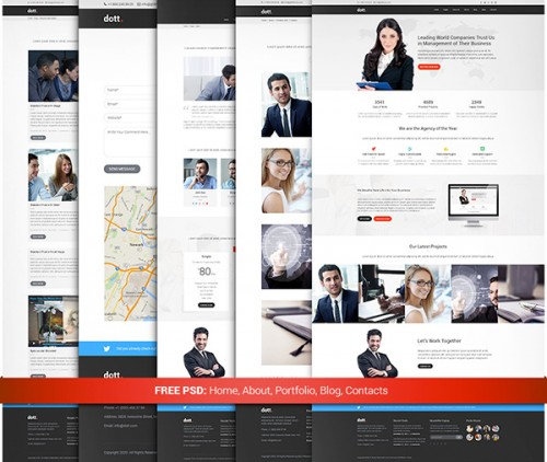 Dott - Free Business PSD Template