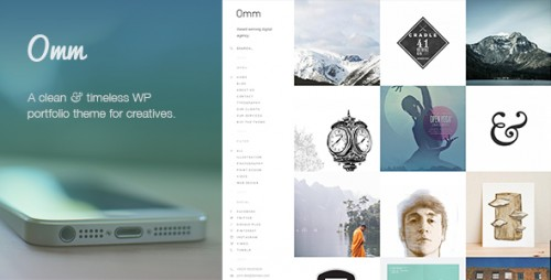 Omm: Clean & Responsive WordPress Portfolio Theme