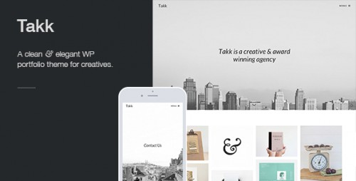 Takk: Clean WordPress Portfolio Theme